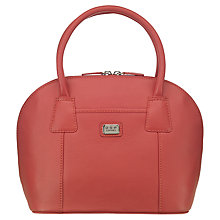 Buy O.S.P OSPREY Wexford Small Leather Grab Handbag, Coral Online at johnlewis.com