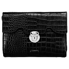 Buy Osprey The Large Tango Clutch Bag, Black Croc Online at johnlewis.com
