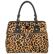 Buy Modalu Pippa Large Leather Grab Handbag, Leopard Online at johnlewis.com