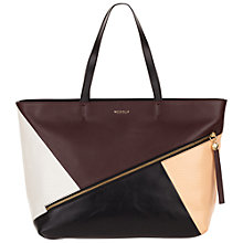 Buy Modalu Carnaby Large Leather Tote Handbag, Ruby Mix Online at johnlewis.com