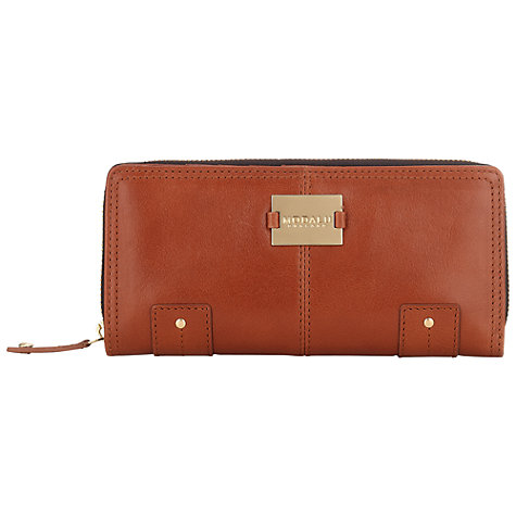 Buy Modalu Pippa Large Zip Around Leather Wallet Online at johnlewis.com