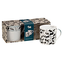 Buy Radley Doodle Dog Porcelain Mug Duo, Ivory Online at johnlewis.com