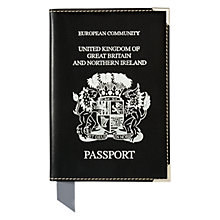 Buy Aspinal of London Leather UK Passport Cover Online at johnlewis.com