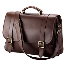 Buy Aspinal of London Leather Satchel Briefcase Online at johnlewis.com