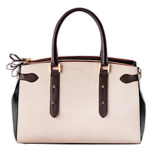 Buy Aspinal of London Brook Street Leather Tote Bag, Monochrome Online at johnlewis.com