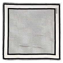 Buy Aspinal of London Polka Dot Silk Scarf, Black/White Online at johnlewis.com