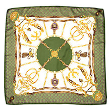 Buy Aspinal of London Horse Shoe & Stirrup Silk Scarf Online at johnlewis.com