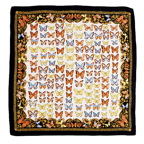 Buy Aspinal of London Butterfly Print Silk Scarf Online at johnlewis.com
