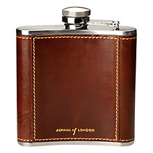 Buy Aspinal of London Classic 5oz Leather Hip Flask Online at johnlewis.com