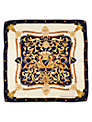 Aspinal of London Signature Silk Crest Scarf
