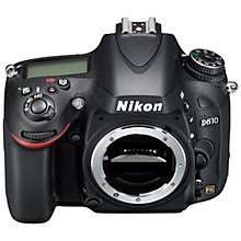 "Buy Nikon D610 Digital SLR Camera, HD 1080p, 24.3MP, 3.2"" LCD Screen, Body Only + Adobe Photoshop Elements 13 Online at johnlewis.com"