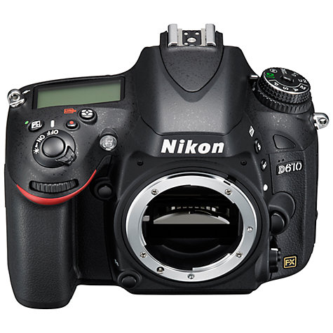 "Buy Nikon D610 Digital SLR Camera, HD 1080p, 24.3MP, 3.2"" LCD Screen, Body Only Online at johnlewis.com"