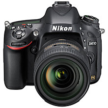 "Buy Nikon D610 Digital SLR Camera with 24-85mm Lens, HD 1080p, 24.3MP, 3.2"" LCD Screen with 16GB + 8GB Memory Card Online at johnlewis.com"