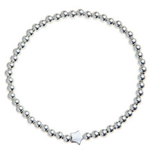 Buy John Lewis Silver Plated Star And Ball Bracelet Online at johnlewis.com