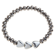 Buy John Lewis Silver Plated Triple Heart Bracelet Online at johnlewis.com