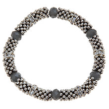 Buy John Lewis Silver Plated Faceted Effer Bracelet, Grey Online at johnlewis.com