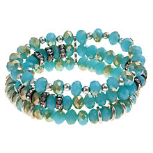 Buy John Lewis Silver Plated Triple Row Bracelet, Teal Online at johnlewis.com
