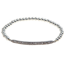 Buy John Lewis Silver Plated Bar And Ball Bracelet Online at johnlewis.com