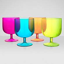 Buy John Lewis Tropicana Stacking Wine Glasses, Set of 4 Online at johnlewis.com