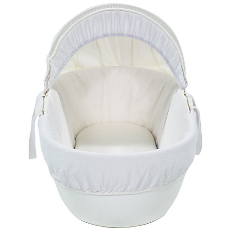 Buy Shnuggle Waffle Moses Basket, White Online at johnlewis.com