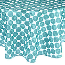 Buy John Lewis Marbles Wipe Clean Round Tablecloth, Dia.180cm Online at johnlewis.com