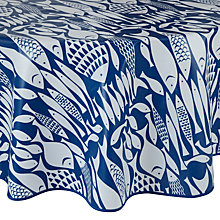 Buy John Lewis Fish Wipe Clean Round Tablecloth, Dia.180cm Online at johnlewis.com