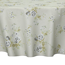 Buy John Lewis Rose Garden Round Wipe Clean Tablecloth, Dia.180cm Online at johnlewis.com