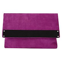 Buy Kaliko Suede Clutch, Purple Online at johnlewis.com
