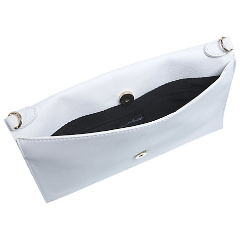 Buy Miss Selfridge Embellished Futuristic Clutch Handbag, White Online at johnlewis.com