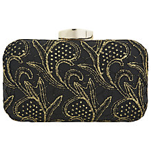 Buy Miss Selfridge Lace Clutch Handbag, Black Online at johnlewis.com