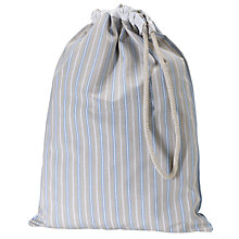 Buy John Lewis Classic Blue Stripe Laundry Bag Online at johnlewis.com