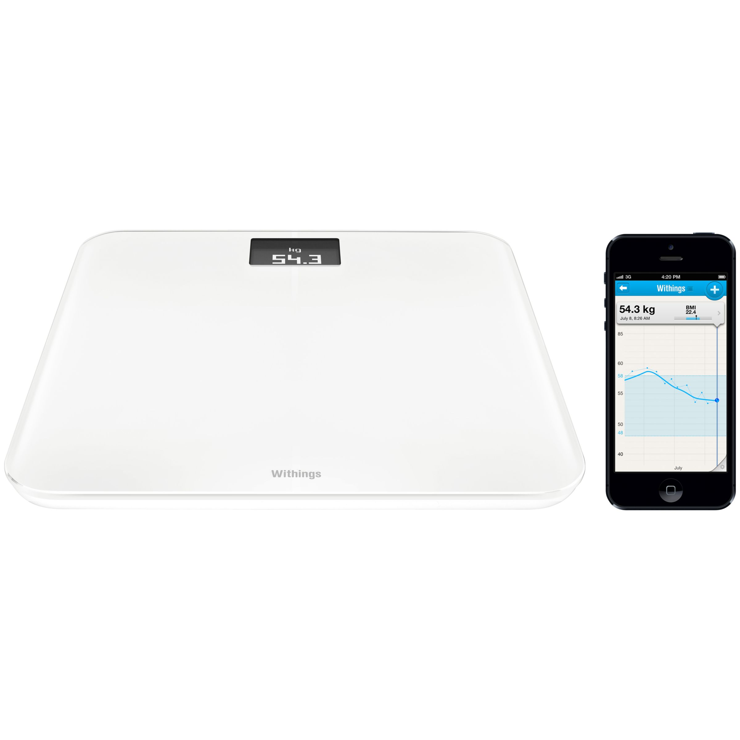 Withings Withings WS-30 Wireless Bathroom Scale, White