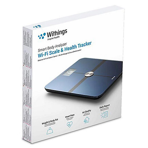 Buy Withings WS-50 Smart Body Analyzer, Health Tracking Wireless Bathroom Scale Online at johnlewis.com