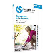 Buy HP Instant Ink Delivery Enrolment Kit, 50 Pages Online at johnlewis.com