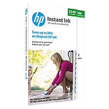 Buy HP Instant Ink Delivery Enrolment Kit, 100 Pages Online at johnlewis.com
