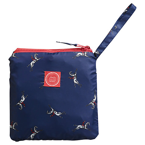 Buy Joules Horse Print Rain Proof Hooded Poncho in a Bag, Navy Online at johnlewis.com