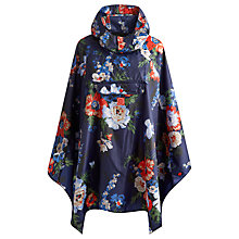 Buy Joules Bouquet Print Rain Proof Hooded Poncho, Navy Online at johnlewis.com