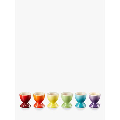 Le Creuset Rainbow Egg Cups, Set of 6