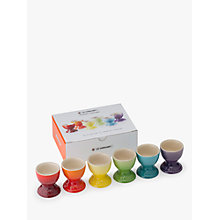 Buy Le Creuset Rainbow Egg Cups, Set of 6 Online at johnlewis.com