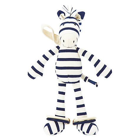 Buy Jellycat Zoot Zebra Soft Toy, Navy Online at johnlewis.com