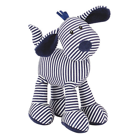 Buy Jellycat Skiddle Puppy Rattle Soft Toy, Navy Online at johnlewis.com