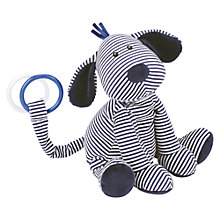 Buy Jellycat Skiddle Puppy Musical Pull Soft Toy, Navy Online at johnlewis.com