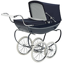 Buy Silver Cross Oberon Navy Dolls' Pram Online at johnlewis.com