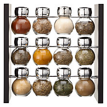 Buy John Lewis 12 Jar Filled Spice Rack Online at johnlewis.com