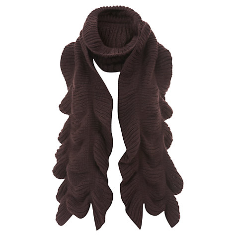 Buy Mint Velvet Chunky Scarf, Red Wine Online at johnlewis.com