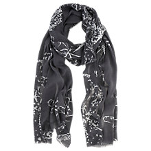 Buy Mint Velvet Holly Scarf, Grey Online at johnlewis.com