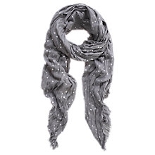 Buy Mint Velvet Estelle Print Scarf, Granite Online at johnlewis.com