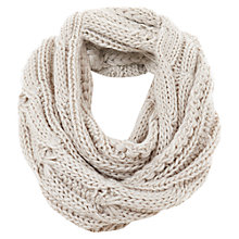 Buy Mint Velvet Cable Knit Snood, Natural Oatmeal Online at johnlewis.com