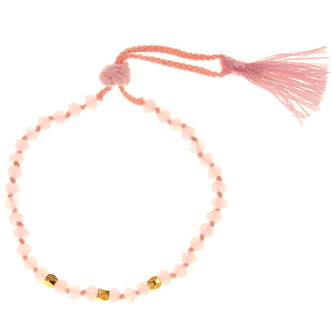 Buy John Lewis Gold Plated Agate Bead Friendship Bracelet Online at johnlewis.com