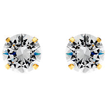 Buy Jou Jou Cubic Zirconia Sterling Silver Round Stud Earrings Online at johnlewis.com
